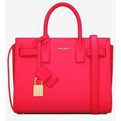 Saint Laurent Classic Baby Sac De Jour Bag In Neon Pink Leather ( 2,150) ❤. Yves  Saint Laurent BagsSaint ... a09783b036