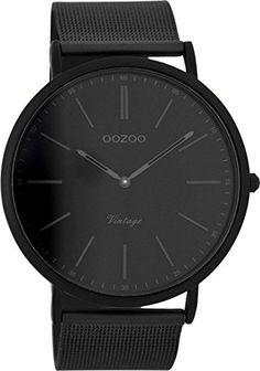 Oozoo Vintage Herrenuhr Schwarz C7384