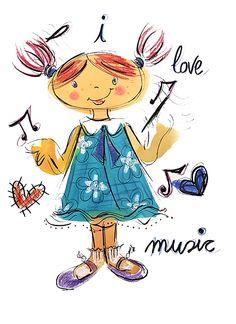 """""""I LOVE MUSIC"""" ALS #DOMINGOSILUSTRADOS.   Les Antònies"""