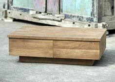 Teak Couchtisch BLOK glatt 110cm Teak Furniture, Hope Chest, Best Sellers, Storage Chest, Recycling, Bench, Design, Home Decor, Top