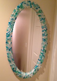 My glass gem and sea glass mirror