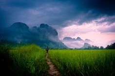 """""""Our battered suitcases were piled on the sidewalk again; we had longer ways to go. But no matter, the road is life."""" – Jack Kerouac #Travel #Laos"""