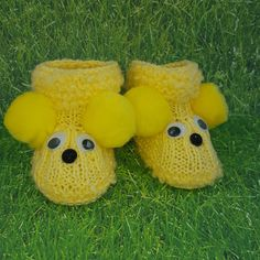 Knitted baby booties - Yellow $10.99 booties - Yellow  SizeColor Regular price$ 10.99  Add to cart  Send as a gift Our Knitted baby booties keep your baby's little feet warm and comfy. They're knitted from soft wool that doesn't irritate your baby's skin.