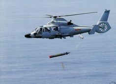 A PLA-N Z-9 multipurpose helicopter drops a torpedo during ASW training exercises [1340x968]