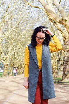 Długa kamizelka w sam raz na wiosnę Burda Patterns, Vest, Jackets, Zara, Boho, Fashion, Fashion Collage, Down Jackets, Moda