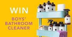 Murchison-Hume Boys' Bathroom Cleaner will brightens any bathroom, even they Boys'! Enter to win a Year's Supply! That's 365 days of stink-free, for free!
