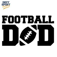 Football Dad with Football in Text Silhouette Decal or Sticker for your  car c711f91c30d16