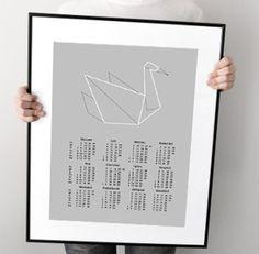 KALENDARZ 2014 - Origami - Ptak