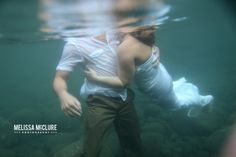 Underwater Wedding Photography in Maui | Destination Wedding Photographer - trash the dress photos