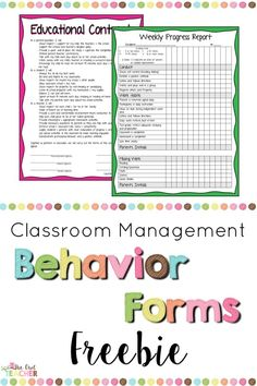 Behavior Forms That Youll Love Every class even the best behaved well trained class still needs to have behavior forms on hand. Whether it be a daily progress report a homework report or a weekly behavior report I have you covered. I even have an educational contract to kick off the start of your school year. Reporting behavior in the ... Read More about Behavior Forms That Youll Love The post Behavior Forms That Youll Love appeared first on Classroom Freebies.