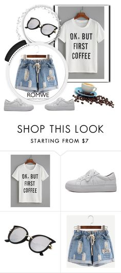 """""""ROMWE V-8"""" by melisa-hasic ❤ liked on Polyvore featuring CO"""