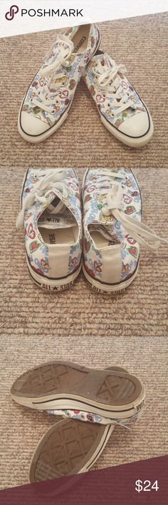 "Converse Rare ""chucks"" pattern!  Lightly worn. Women's 7. Converse Shoes Sneakers"
