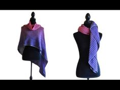 How To Crochet The Tube Thing Lines Shawl - Crocheted World