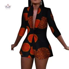 African Women Ankara Print blazers with Shorts set African Attire, African Wear, African Women, African Dress, African Lace, African Print Fashion, African Fashion Dresses, African Outfits, African Shirts
