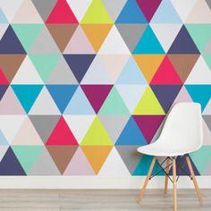 multicoloured-triangles-square-wall-murals