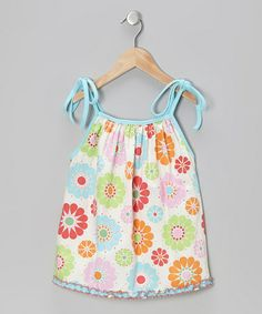 Another great find on #zulily! Sky Blue Floral Molly Top - Infant, Toddler & Girls #zulilyfinds