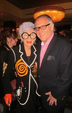 Iris Apfel wearing her moschino jacket from Palm Beach Vintage