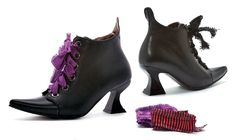 Womens Black Witch Costume Boots