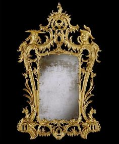 An important George II chinoiserie giltwood mirror / in the manner of Matthias Lock 1750