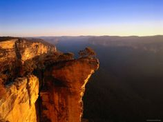 Hanging Rock Overlooking the Grose River Gorge Near the Town of Blackheath, Australia Photographic Print