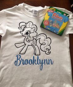 Personalized coloring page shirt