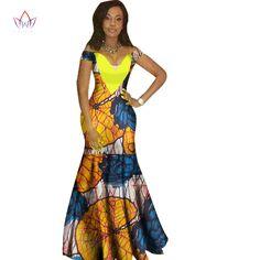 2017 robes pour femmes Design De Mode africaine dashiki femmes bazin riche  V,cou longue