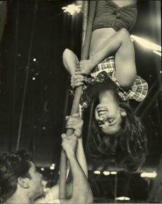 Circus In Sarasota - Nina Leen 1949 - Vintage Aerial Circus - Corde Lisse