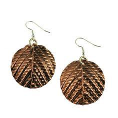 Double Corrugated Copper Drop Earrings John S Brana #7th #Wedding #Anniversary Gift Ideas http://www.amazon.com/dp/B00AOBZ1DQ/ref=cm_sw_r_pi_dp_6qvgrb0ZKK69J