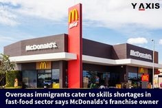 According to McDonald's South Hedland owner Luke Jessop, overseas immigrants have addressed the scarcity of skills in the fast food sector in Australia.