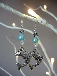 Dolphin earrings lattice dolphin earrings by THWoodlandCreatures