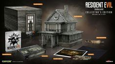 Resident Evil 7 biohazard Base Game Mansion Music Box (8″ tall) that plays a sample of Aunt Rhody with accompanying LED effects Dummy Finger 4GB USB drive Exclusive metal case VHS tape box Exclusive lithograph Creepy note Premium packaging