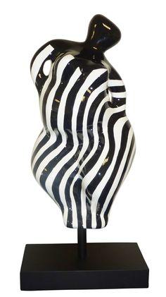 Déesse, Beach Heart Zebra, 2016 - Dimensions : 108 x 43 x 38 Cm   Inch - Tirages : Oeuvre éditée à 25 exemplaires - Sculpture : résine - 1 375 €