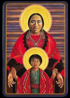 Navajo Virgin and Child - Father John