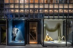 """HERMES, Ginza, Tokyo, Japan, """"Time Lapse"""", (The interesting relationship between object and time), photo by Japan Design, pinned by Ton van der Veer"""