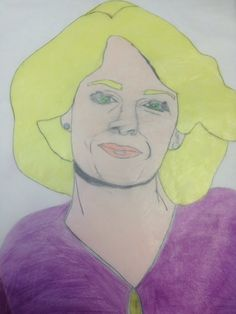 Marlena done with prisma color Colored pencils and charcoal pencil