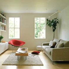 Neutral living room with sofa, classic chair and wooden floor Home Design Decor, House Design, Interior Design, Home Decor, Design Ideas, Small Space Living, Living Spaces, Living Room, Study Rooms