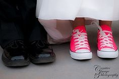 I like this idea! Don't know if I would actually wear sneakers with my dress, but this is a cute picture.