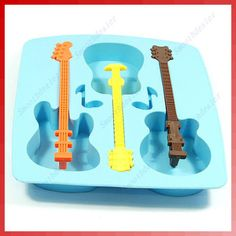 guitar shaped icecube trays / candy mold