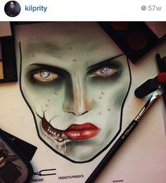 #halloween #facechart by Kilprity on Instagram #makeup #art