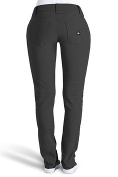 72f7e25b0ce18 Back of the Curvey 5 Pocket Black Skinny Pant - Dickies Girl Black Skinny  Pants
