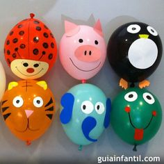 8 ideas para decorar globos con los niños Balloon Crafts, 4 Kids, Diy For Kids, Crafts For Kids, Ideas Para Fiestas, Animal Party, Baby Birthday, Birthday Decorations, Baby Boy Shower