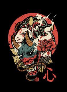 Japanese art – - New Site Japanese Artwork, Japanese Tattoo Art, Art And Illustration, Japanese Illustration, Botanical Illustration, Art Sketches, Art Drawings, Bild Tattoos, Art Tattoos