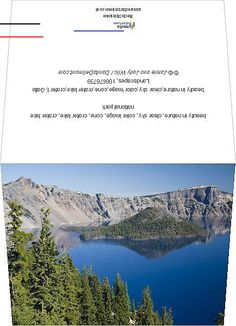 """#craterlakeoregon - Photo Greeting Card (other products available) - beauty in nature,clear sky,color image,cone,crater lake,crater l, Gallo Landscapes, 106676739 - Image supplied by Fine Art Storehouse - 6""""x8"""" inch Greetings Card made in the UK... Cascade National Park, North Cascades National Park, National Parks Map, Crater Lake National Park, National Park Posters, Crater Lake Hikes, Crater Lake Lodge, Crater Lake Oregon, Oregon Lakes"""