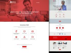 Unused home page design