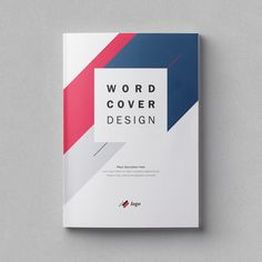 Business Folder, Logo Shapes, Folder Design, Word Design, Cover Template, Microsoft Word, Cover Pages, Book Cover Design, Guide Book