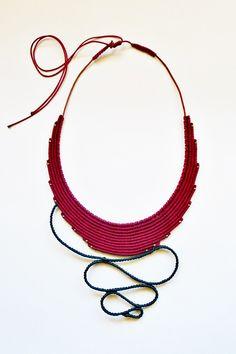 Macrame necklace  Boho necklace  Indian God by TheDancingCord