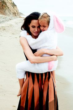 """Angelina Jolie & daughter Vivienne photographed by Annie Leibovitz for """"Vogue"""" ~ 2015"""