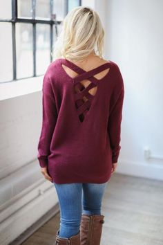 Change of Course Sweater - Wine