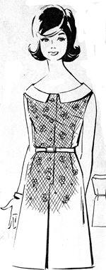 Летнее молодежное платье из хлопчатобумажной ткани, мода 1965 год