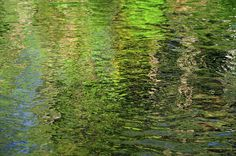 Forty Shades Of Green 1. Water Abstract by Jenny Rainbow